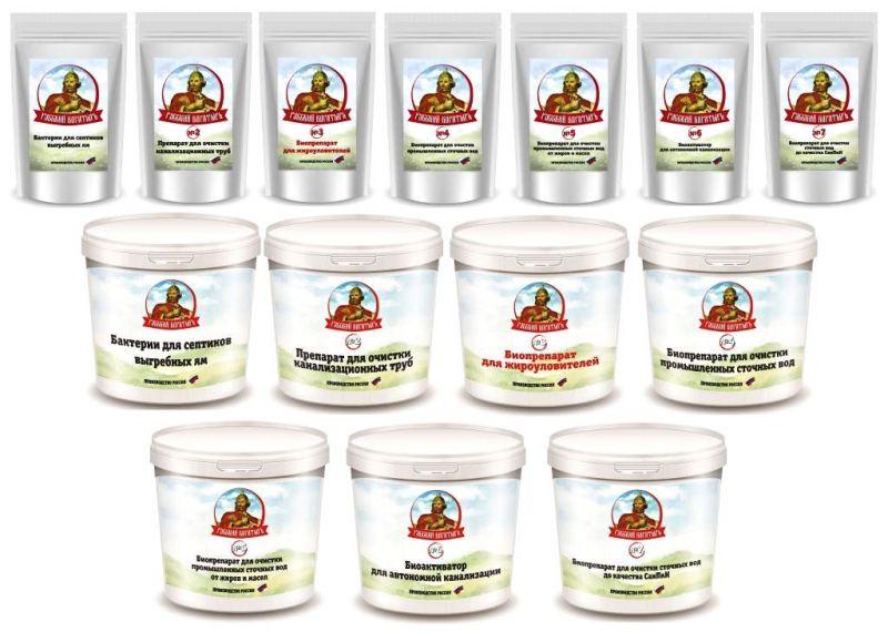 Биопрепараты для очистки сточных вод, септиков, жироуловителей.
